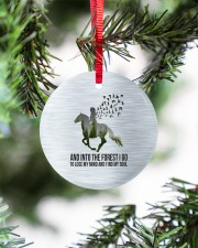 Horse Into The Forest I Go Circle ornament - single (porcelain) aos-circle-ornament-single-porcelain-lifestyles-07
