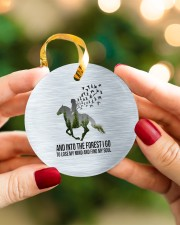 Horse Into The Forest I Go Circle ornament - single (porcelain) aos-circle-ornament-single-porcelain-lifestyles-08
