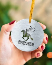Horse Into The Forest I Go Circle ornament - single (porcelain) aos-circle-ornament-single-porcelain-lifestyles-09