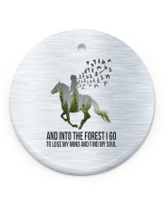 Horse Into The Forest I Go Circle ornament - single (porcelain) front