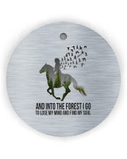Horse Into The Forest I Go Circle ornament - single (wood) thumbnail