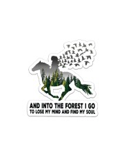 Horse Into The Forest I Go Sticker - Single (Horizontal) thumbnail