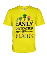 Easily Distracted By Plants V-Neck T-Shirt thumbnail