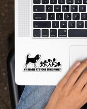 Beagle  Sticker - Single (Horizontal) aos-sticker-single-horizontal-lifestyle-front-11