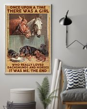A Girl Loved Horses And Dachshunds 11x17 Poster lifestyle-poster-1