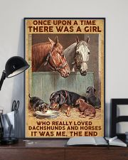 A Girl Loved Horses And Dachshunds 11x17 Poster lifestyle-poster-2