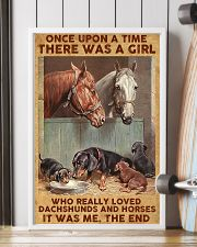 A Girl Loved Horses And Dachshunds 11x17 Poster lifestyle-poster-4