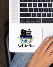 Back The Blue  Sticker - Single (Vertical) aos-sticker-single-vertical-lifestyle-front-11