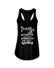 I Plan On Quilting Ladies Flowy Tank thumbnail