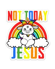 Satan Not Today Sticker - Single (Vertical) front