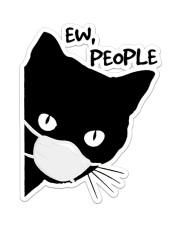 Black Cat Ew People Sticker - Single (Vertical) front