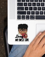Living My Best Life Sticker - Single (Vertical) aos-sticker-single-vertical-lifestyle-front-11