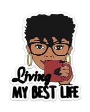 Living My Best Life Sticker - Single (Vertical) front