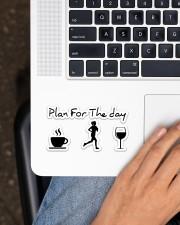 Jogging Plan  Sticker - Single (Horizontal) aos-sticker-single-horizontal-lifestyle-front-11
