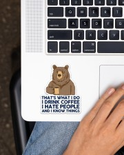 Camping Bear That's What I Do Sticker - Single (Vertical) aos-sticker-single-vertical-lifestyle-front-11