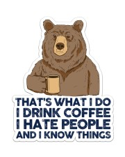 Camping Bear That's What I Do Sticker - Single (Vertical) front