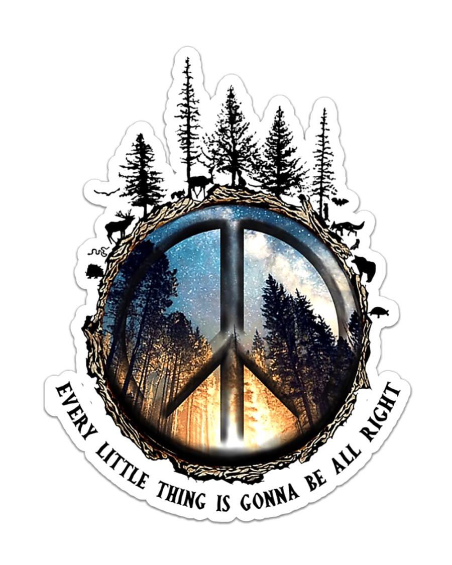 Hippie Sticker - Single (Vertical)