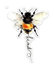 Bee Kind  Sticker - Single (Vertical) front