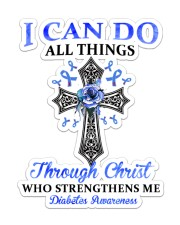 Diabetes I Can Do All Things Sticker - Single (Vertical) front
