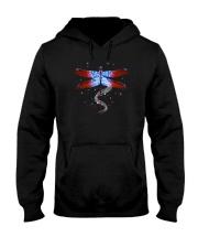 Dragonfly Us Flag Hooded Sweatshirt thumbnail