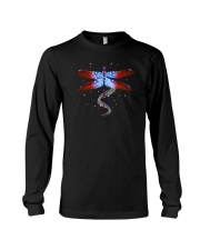 Dragonfly Us Flag Long Sleeve Tee thumbnail