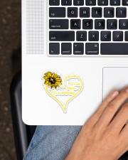Jesus Sunflower  Sticker - Single (Vertical) aos-sticker-single-vertical-lifestyle-front-11