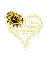 Jesus Sunflower  Sticker - Single (Vertical) front