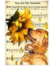Sunflower Golden Retrieve Sunshine 11x17 Poster front