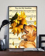 Sunflower Golden Retrieve Sunshine 11x17 Poster lifestyle-poster-2