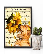 Sunflower Golden Retrieve Sunshine 11x17 Poster lifestyle-poster-8