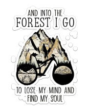 Cycling Into The Forest Sticker - Single (Vertical) front