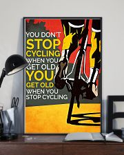 You Don't Stop Cycling 11x17 Poster lifestyle-poster-2
