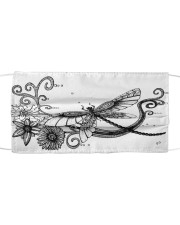 Dragonfly Tattoo Cloth face mask front