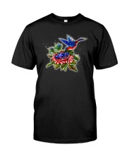 hummingbirds And Roses Classic T-Shirt front
