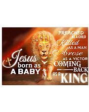 Jesus Born As A Baby 17x11 Poster front