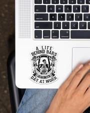 Biker Life Behind Bar Sticker - Single (Vertical) aos-sticker-single-vertical-lifestyle-front-11