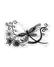 For Dragonfly Lovers Sticker - Single (Horizontal) front