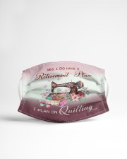 Quilting Retire Plan Cloth face mask aos-face-mask-lifestyle-22
