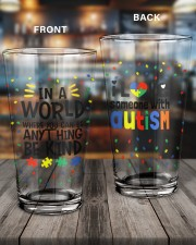 Love Someone With Autism 16oz Pint Glass aos-16oz-pint-glass-lifestyle-front-11