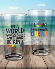 Love Someone With Autism 16oz Pint Glass aos-16oz-pint-glass-lifestyle-front-17