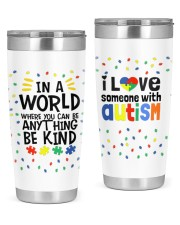 Love Someone With Autism 20oz Tumbler tile