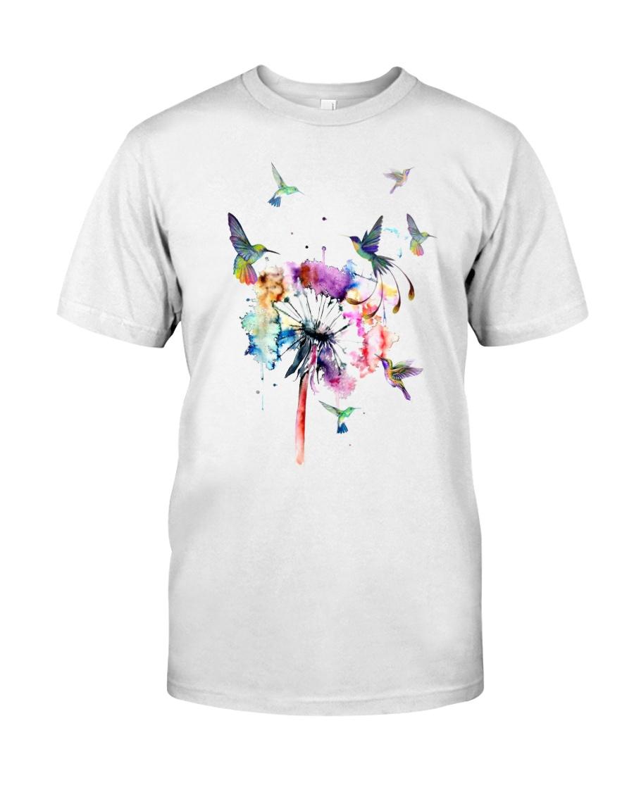 Hummingbirds And Dandelion Classic T-Shirt