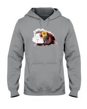 Guinea Pig And Sunflower Hooded Sweatshirt thumbnail