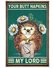Hedgehog Napkins 11x17 Poster front