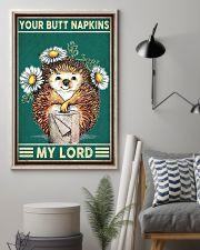 Hedgehog Napkins 11x17 Poster lifestyle-poster-1
