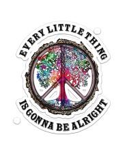 Hippie Alright Sticker - Single (Vertical) front