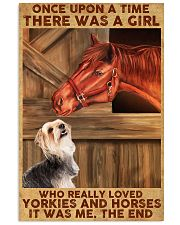 Horse And Yorkie 11x17 Poster front