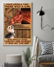 Horse And Yorkie 11x17 Poster lifestyle-poster-1