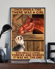 Horse And Yorkie 11x17 Poster lifestyle-poster-2