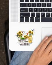 Hummingbird Choose Joy  Sticker - Single (Horizontal) aos-sticker-single-horizontal-lifestyle-front-11